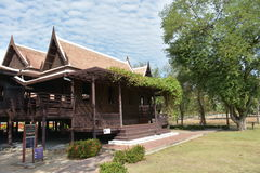 Traditional thai house, in public area Royalty Free Stock Images