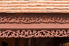 Traditional thai house roof and eave board Stock Images