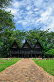 Traditional Thai house style. Ancient black houses in Thailand Stock Image