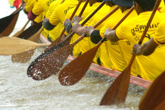 Traditional Thai long boat racing Stock Photography