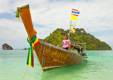 Traditional Thai long tail boat with Stock Image