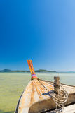 Traditional thai longtail boat at famous sunny Long Beach Royalty Free Stock Photos