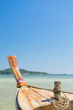 Traditional thai longtail boat at famous sunny Long Beach Royalty Free Stock Images