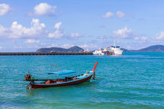 Traditional thai longtail boat Stock Images
