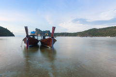Traditional thai longtail boat at Phuket ,Thailand Stock Images