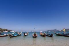 Traditional thai longtail boat at  Phuket,Thailand Royalty Free Stock Photos