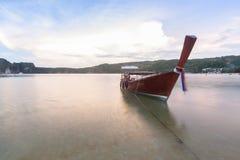 Traditional thai longtail boat at Phuket ,Thailand Royalty Free Stock Image