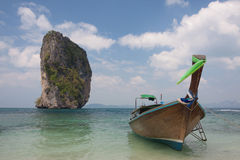 Traditional thai longtail boat at  Poda island ,Thailand Stock Images