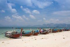 Traditional thai longtail boat at  Poda  island ,Thailand Stock Photos