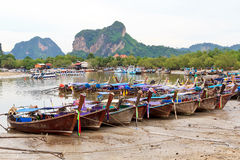 Traditional Thai longtail boats Royalty Free Stock Photos