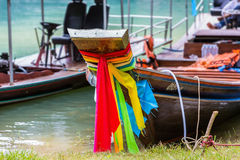 Traditional Thai longtail boats Royalty Free Stock Photography