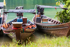 Traditional Thai longtail boats Stock Photography