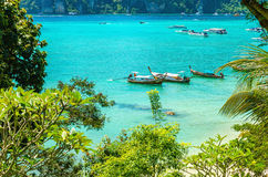 Traditional thai longtail boats in Thailand Stock Photography