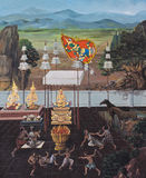 Traditional Thai mural painting Royalty Free Stock Photography