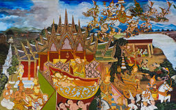 Traditional Thai mural painting Stock Photography