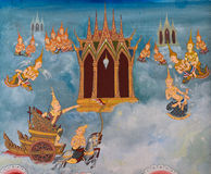 Traditional Thai mural painting Royalty Free Stock Images