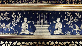 Traditional Thai mural painting Stock Image