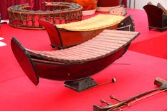 Traditional Thai musical instruments Stock Photo