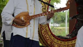 Traditional Thai musical instruments. The pin pia stock footage