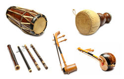 Traditional Thai musical instruments. Set of Traditional Thai musical instruments Royalty Free Stock Image