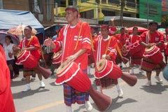 Traditional Thai musicians in Rocket festival 'Boon Bang Fai' Royalty Free Stock Photos