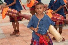 Traditional Thai musicians in Rocket festival 'Boon Bang Fai' Royalty Free Stock Image