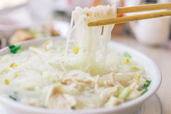 Traditional thai noodle soup Royalty Free Stock Photo