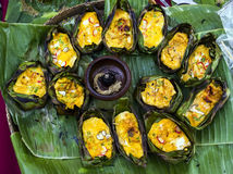 Traditional Thai omelet in the north of Thailand Stock Photos