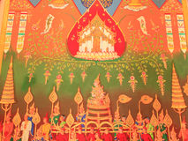 Traditional Thai painting art Royalty Free Stock Photography