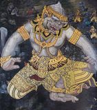 Traditional Thai paintings of Ramayana epic Royalty Free Stock Photo