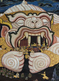 Traditional Thai paintings of Ramayana epic Stock Photo