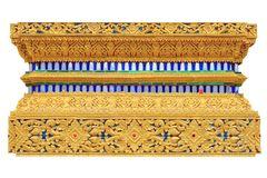 Traditional Thai pattern painting pattern of base of windows of Stock Images