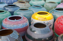 Traditional Thai Pottery. Stock Photo
