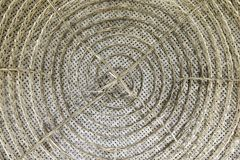 Traditional thai rattan weaving pattern in center Stock Images