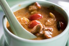 Thai red curry with duck royalty free stock photo