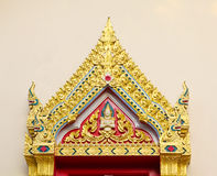 Traditional Thai roofs and gables Stock Images