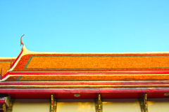 Traditional Thai roofs and gables. Gable garden, green, historical, home, house, landscape life, ancient Stock Photography
