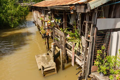 Traditional Thai rural house. Near the river Stock Images