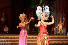 Traditional Thai show in a Nongnooch Garden in Pattaya, Thailand Royalty Free Stock Photography