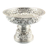 Traditional Thai silverware on white background Royalty Free Stock Images