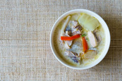 Traditional thai soup coconut milk with chicken or Tom Kha Gai Stock Images