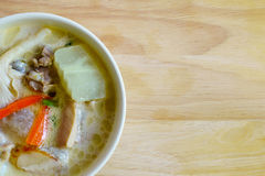 Traditional thai soup coconut milk with chicken or Tom Kha Gai Stock Photo