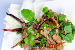Traditional thai spicy salad stock photography