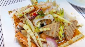 Traditional Thai Spicy Salad royalty free stock image
