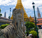 Traditional thai statue at grand palace Stock Images