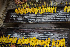 Traditional Thai steak roasted pork Stock Image