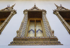 Traditional Thai style arched windows. Motif detail Stock Photography