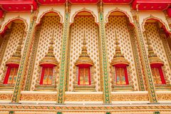 Traditional Thai style architecture Royalty Free Stock Photo