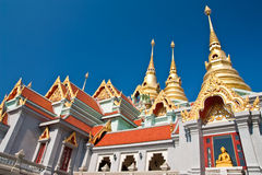 Traditional Thai style architecture. Pattern of traditional Thai style Stock Photos