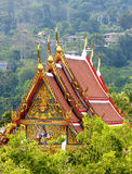 Traditional Thai style architecture. A temple in the forest Stock Images